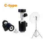 Pro-Umbrella-Holder-Swivel-Bracket-Flash-Shoe-Stand-Mount-Flash-holder-Type-C-